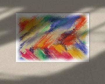 Abstract pointillism van Maurice Dawson