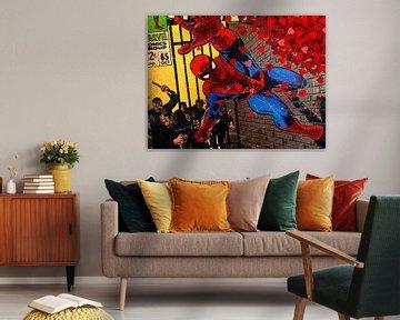 Spiderman amoureux sur Christa Wijga