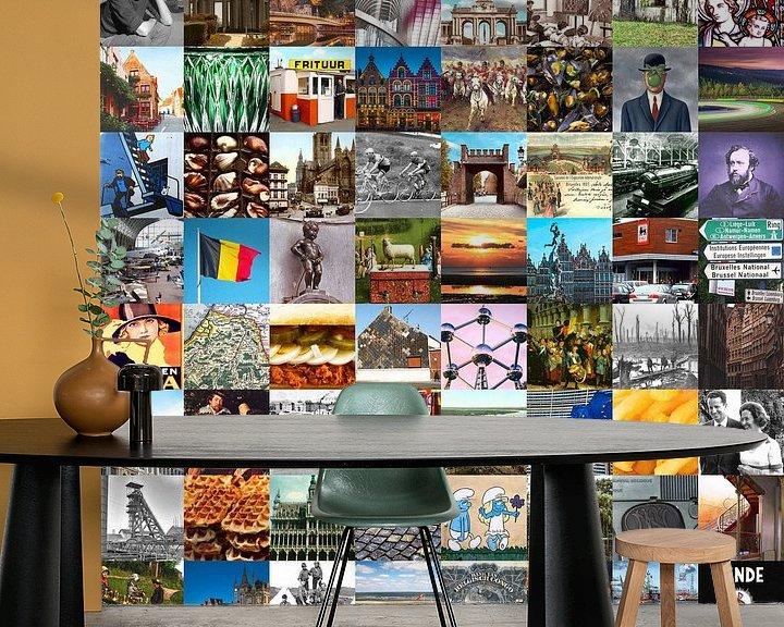 Impression: La Belgique typique - collage d'images du pays et de l'histoire sur Roger VDB