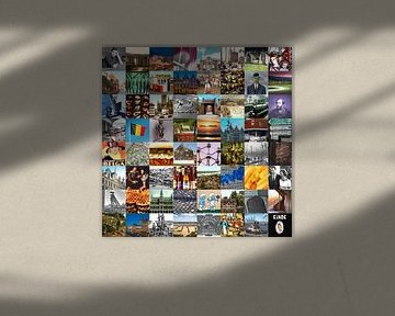 Typisch België - collage van beelden van het land en historie van Roger VDB