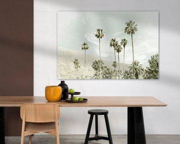 Palmbomen in de woestijn | Vintage van Melanie Viola