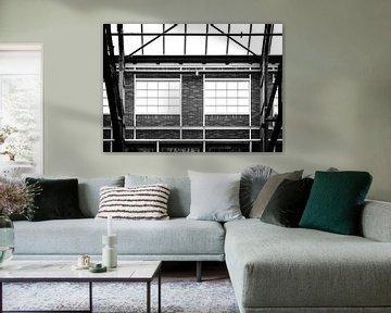 Symmetriefenster im NDSM Werf, Amsterdam Nord. von Enrique De Corral