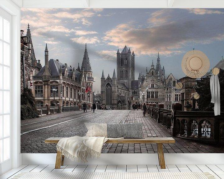 Beispiel fototapete: Gent Belgien von Jos Erkamp