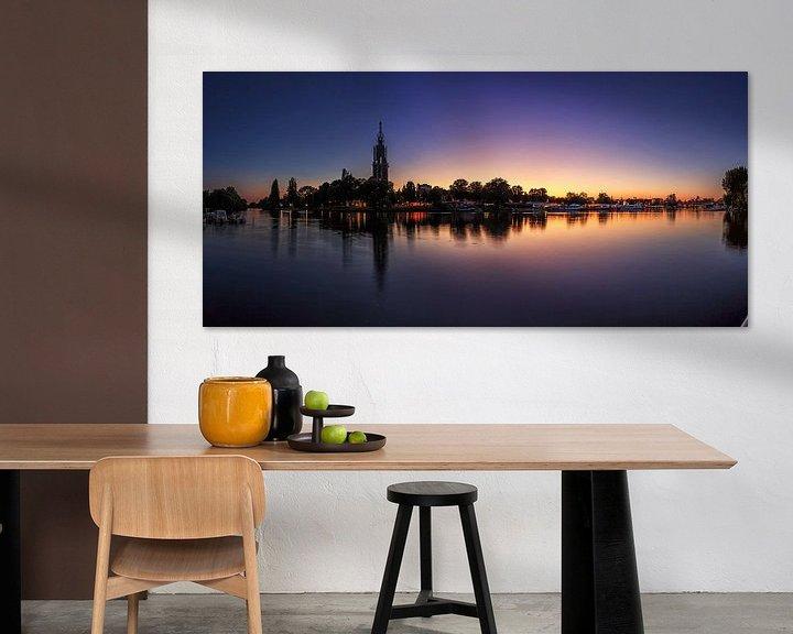Beispiel: Potsdam Skyline an der Havel im Sonnenuntergang von Frank Herrmann