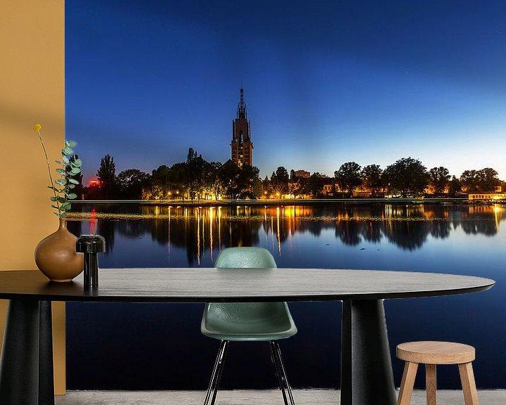 Beispiel fototapete: Potsdam Skyline an der Havel zur blauen Stunde von Frank Herrmann