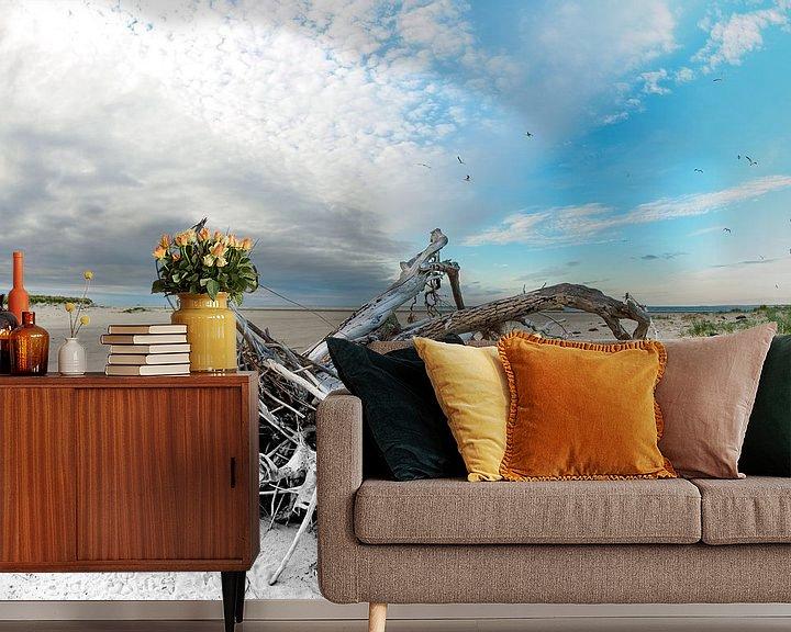 Beispiel fototapete: Hochwassermarke auf dem Bosch-Schild von Jan Huneman