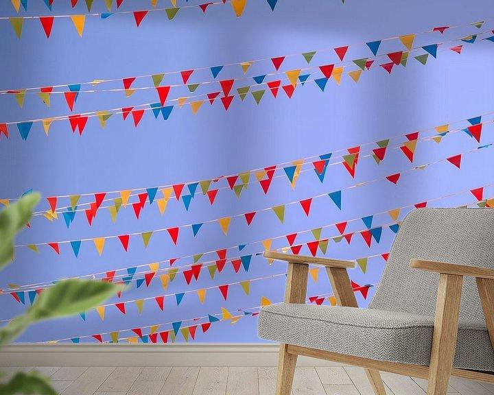 Impression: Des drapeaux colorés sur Nele Vereecke
