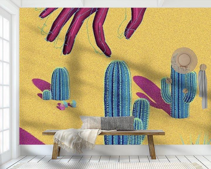 Beispiel fototapete: Hand-Kaktus Saguaro von Klaudia Kogut