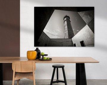 Vuurtoren op Faial, Azoren van Marcel Bakker