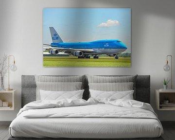 KLM Boeing 747 jumbojet op Schiphol van Sjoerd van der Wal
