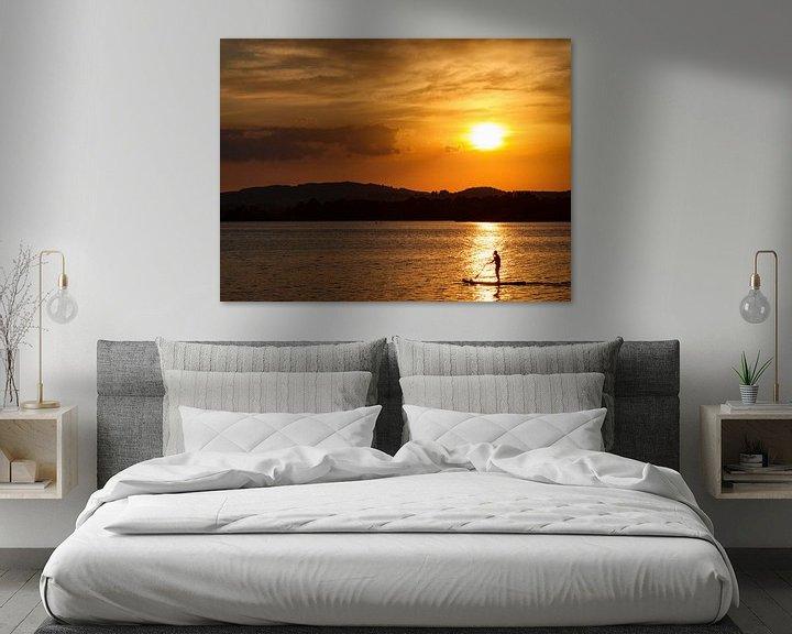 Beispiel: Sonnenuntergang am Staffelsee mit Stand Up Paddler von Andreas Müller