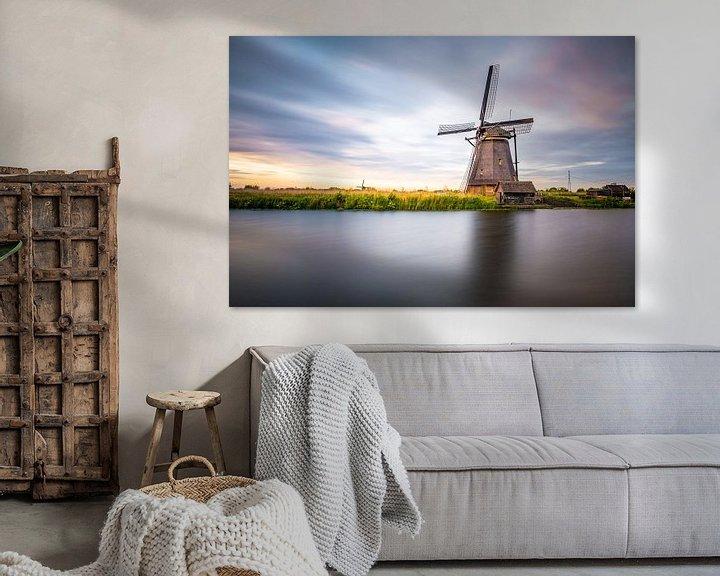 Beispiel: Mühle Kinderdijk von Juul Hekkens