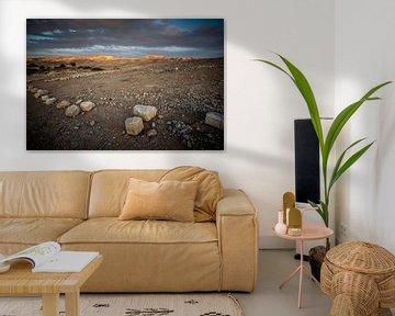 Avond over de woestijn in Israel van Herman IJssel BWPHOTO