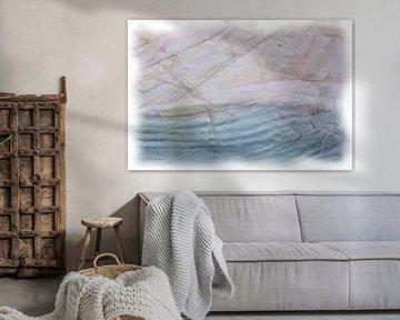Abstrakt blau rosa von Maurice Dawson