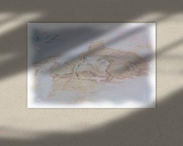 Abstraktes Beige-Blau von Maurice Dawson