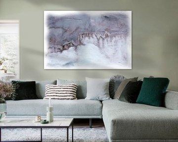 Abstraktes blau-violett-grau von Maurice Dawson
