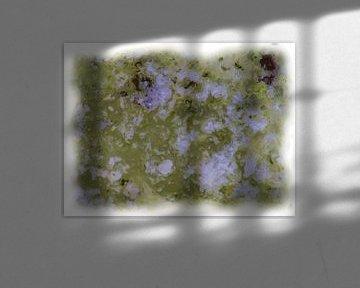 Abstraktes Grün Weiß von Maurice Dawson