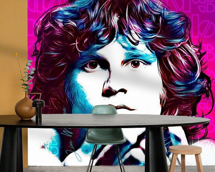 Beispiel fototapete: PopArt Kunst von Jim Morrisson von Martin Melis