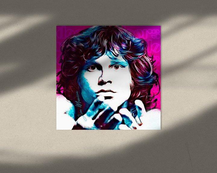 Beispiel: PopArt Kunst von Jim Morrisson von Martin Melis
