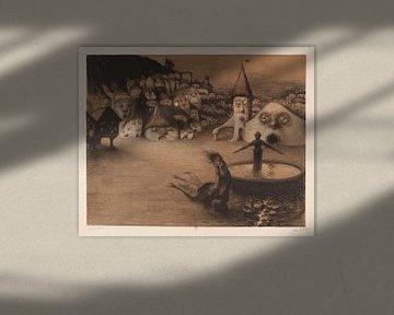 Die Häuser sind Gesichter, Jean veber - 1899