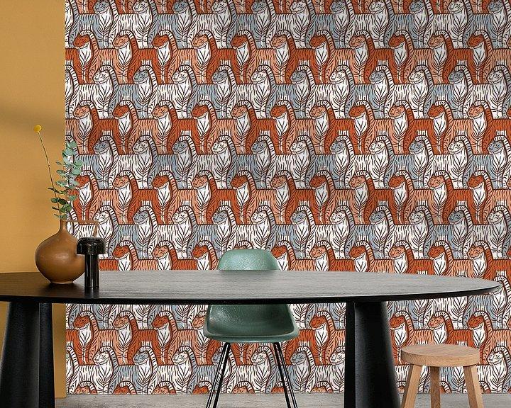 Beispiel fototapete: Tiger-Muster von Renée van den Kerkhof