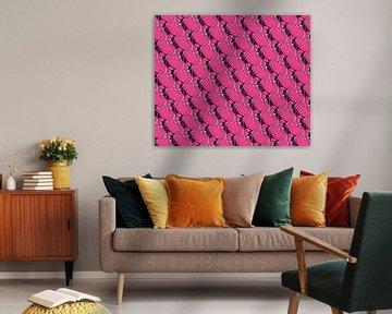 Flamingo-Muster von Renée van den Kerkhof