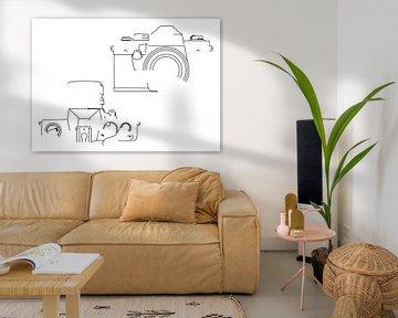 Analogkamera-Silhouette (praktischer Super TL2-Stil) von Drawn by Johan