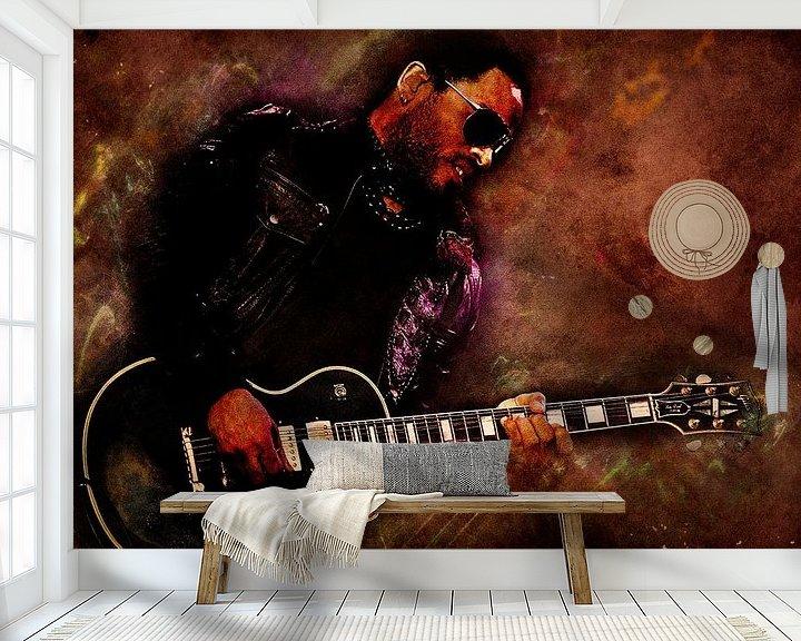 Beispiel fototapete: Lenny Kravitz von Nic Opdam