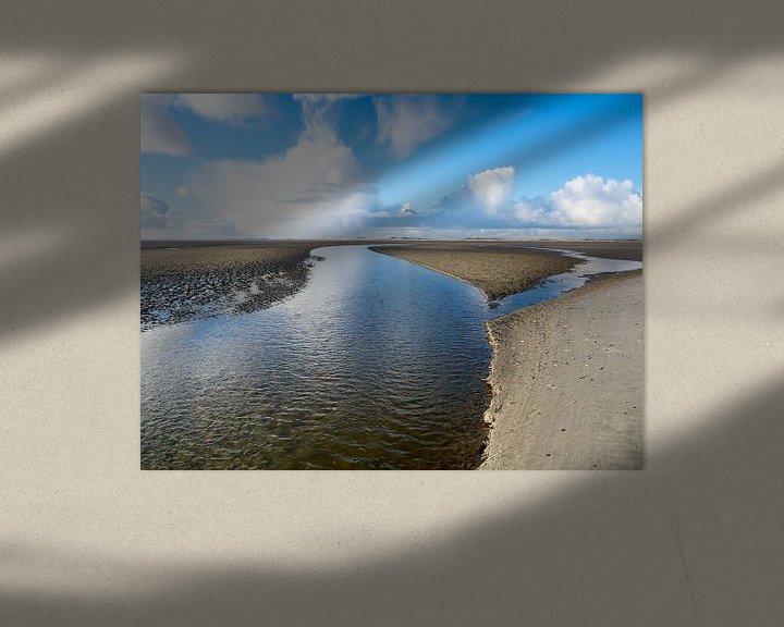 Beispiel: Slenk  durch das entwässerte Wattenmeer bei Terschelling von Jan Huneman