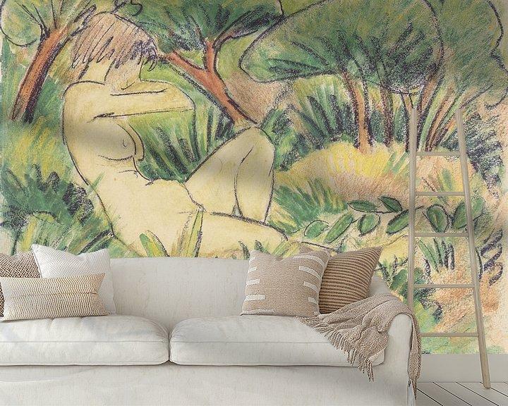 Beispiel fototapete: Akt in Landschaft, Otto Mueller - ca1923 von Atelier Liesjes