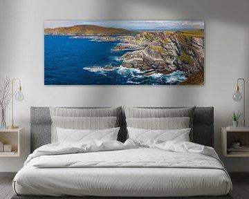 Panorama van de Ierse kustlijn van Henk Meijer Photography