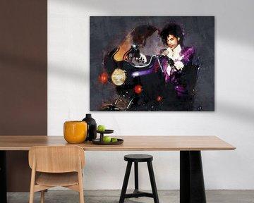 Ölgemälde-Porträt von Prince (Purpur-Regen) von Bert Hooijer