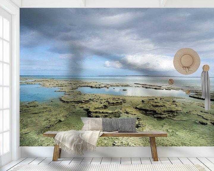 Beispiel fototapete: Trockenes friesisches Wattenmeer in der Nähe des Meereslochs von Jan Huneman