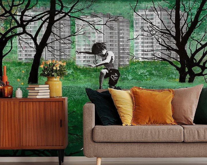 Sfeerimpressie behang: THE GREEN POND van db Waterman