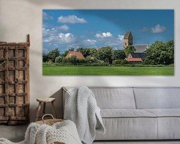 Zicht op het Friese plaatsje Schraard in het zuidwesten van de provincie van Harrie Muis