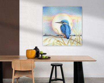 Eisvogel im Winter von Rianne Brugmans van Breugel