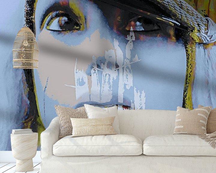 Sfeerimpressie behang: Het meisje met de asperges van Gabi Hampe