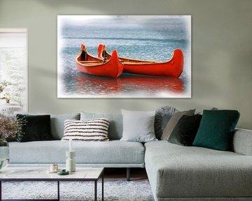 Rote Kanus von Maurice Dawson