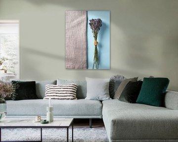 Lavendel op hessisch en blauw