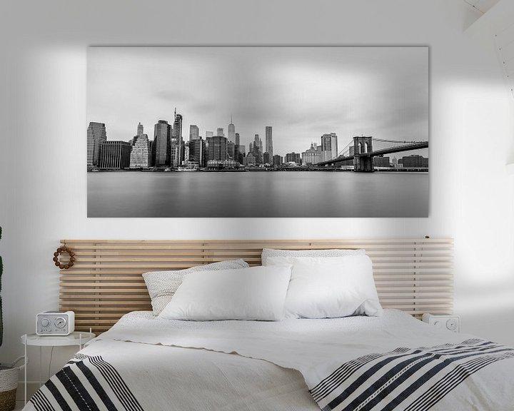 Sfeerimpressie: Skyline Lower Manhattan (zwart/wit) van Natascha Velzel