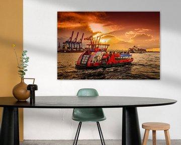 Hamburg, Hafen, Elbe, Hafenfähre von Ingo Boelter