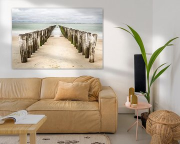Strandmasten in Zeeland von Mark Bolijn