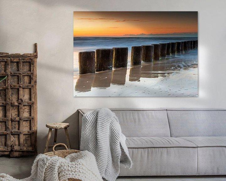 Impression: Grognements à la mer au coucher du soleil sur Frank Herrmann