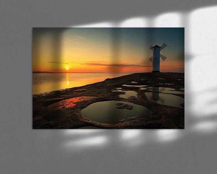 Impression: Phare du moulin sur la jetée ouest (Swinemündes/ Świnoujście) au coucher du soleil sur Frank Herrmann