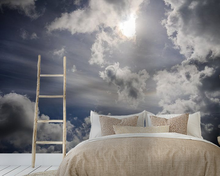 Beispiel fototapete: Blauer Himmel von Martijn Tilroe