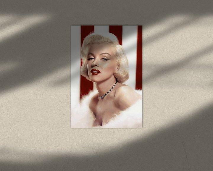 Beispiel: Marilyn Monroe schwül, mit roten Lippen von Atelier Liesjes