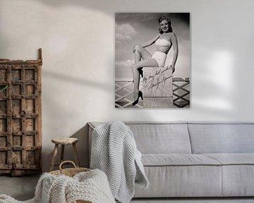 Pinup Marilyn Monroe, vroege foto van Atelier Liesjes