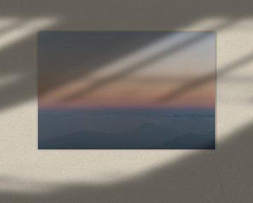 Abstracte zonsopkomst met pastel kleuren