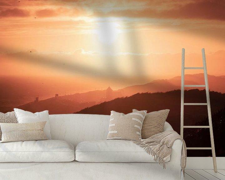 Sfeerimpressie behang: Zoutelande Silhouet van Thom Brouwer