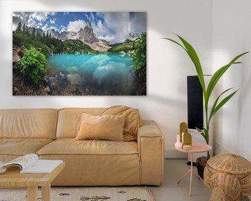 Dolomieten Lago di Sorapis Panorama van Jean Claude Castor